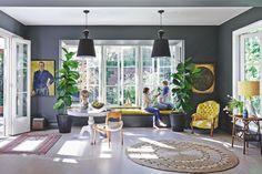 Dining room | Grey | Mustard yellow | Family room | Living room | Modern | Livingetc