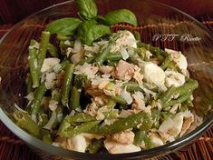 Insalata estiva fagiolini, mozzarella e tonno Quick Recipes, Clean Recipes, Summer Recipes, Cooking Recipes, Portuguese Recipes, Italian Recipes, Vegetarian Recipes, Healthy Recipes, Salty Foods