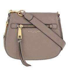 MARC JACOBS Recruit Small Grained Leather Saddle Bag. #marcjacobs #bags #leather #