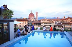 Summertime in Florence means high temps and long days, but it also means the opening of rooftop bars around the city to beat the heat and enjoy the extended hours of sunshine with a steady breeze and