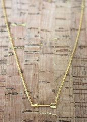 Gold Arrow Necklace - elle & k boutique
