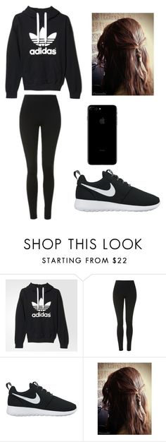 """""""Untitled #18"""" by sandranlara on Polyvore featuring adidas, Topshop and NIKE"""