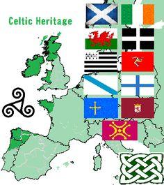 Celtic Heritage Culture:  Alba / Éire / Cymru / Kernow / Breizh / Ellan Vannin / Galiza (GALICIA) / Norte Portugal / Asturies / Llíon / Cantabria.