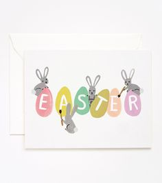 Busy Bunnies Easter Card (Rifle Paper Co.) - too adorable