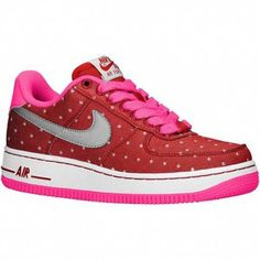 best service 382dc c0f3a nike air force mid Air Force 1 Low - Girls  Grade School - Basketball -  Shoes - Dark Red Metallic Silver Pink Pow W