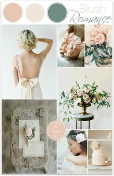 Blush Wedding Inspiration Today's color board wraps up my series on soft, neutral color palettes! I have always been a fan of blush weddings, so this light and airy color palette may be my favorite from the series. It is romantic and feminine and perfect for any time of the year!
