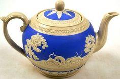 Vintage Spode China Tea Pot & Lid Fox Hunting Pattern Copeland England