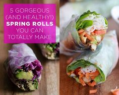 5 Gorgeous (and Healthy!) Spring Rolls You Can Totally Make   Women's Health Magazine