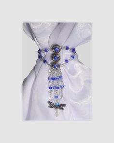 Scarf Jewelry scarf slide beaded scarf by RelaxedLuxKathleen