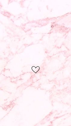 Pink marble with heart