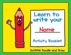 A fun booklet for kids to practice printing their name.  Perfect for preschool and kindergarten students.