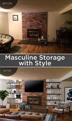 Adding Storage and Style to a Manly Space   Remodelaholic   Bloglovin'