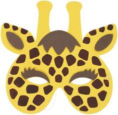 Máscaras animales de safari