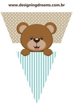 Teddy Bear for Boys: Free Printable Mini Kit. - Oh My Baby! Imprimibles Baby Shower, Baby Shower Invitaciones, Teddy Bear Baby Shower, Baby Shower Niño, Bear Theme, Baby Shawer, Bear Party, Unisex Baby, Baby Shower Decorations