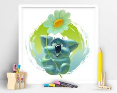 Items similar to Cute Koala bear. Children Playroom Decor on Etsy Art Wall Kids, Wall Art, Cute Koala Bear, Art Children, My Etsy Shop, Art Prints, Unique Jewelry, Handmade Gifts, Check