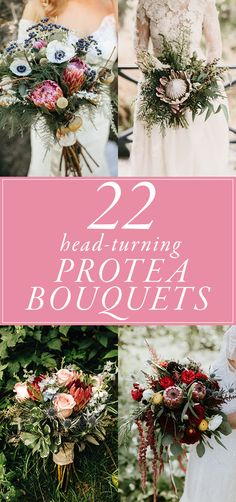22 Head-Turning Protea Bouquets for Your Wedding Day | Junebug Weddings