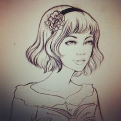 Cute drawing, but like the hairdo - soleil ignacio