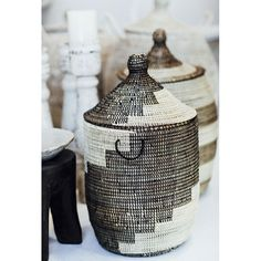 Decorative Old African Baskets / Look these at WWW.THEAFRICANTOUCH.COM / Ethnic Global African Home Decor and Style #basket #pattern woven