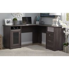 Bush Cabot L-Shaped Desk - Desks at Hayneedle