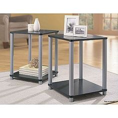 End Tables in Black and Silver 2 Table Set- Essential Home 19.99 at Kmart