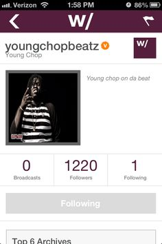 youngchopbeatz (Chief Keef's producer) is here to show you a good time. Check out his live broadcasts while he travels the world. Hangwith.me/youngchopbeatz