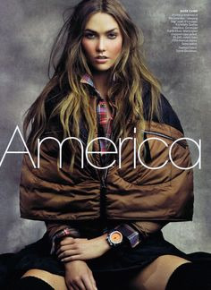 I want to be Karlie in this photo. Her makeup/hair/face/body are flawless. from the America the Beautiful editorial shot by Craig McDean, Vogue, June 2011