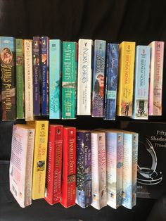 Authors like Nora Roberts - The reef and The Mackade Brothers Susan Donovan - a night she got lucky The marine's baby Yukon Cowbow A love for all time seeking his love Scandals by Penelope Neri Shadow Magic by Karen Whiddon Brenda Novak - When snow falls & When lighting strikes Pleasure love by Gena Showalter Fifty Shades - Freed Susan Wiggs So this is Christmas by Sherryl Woods Danielle Steel - 44 charles Street Katherine Woodiwiss - Everlasting Fern Michaels - Return to sender Debbie…