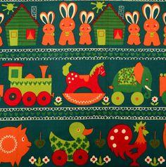 vintage childrens fabric