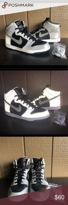 """Dunk Premium High SP """"3M Snake"""" Men's Shoes Sz 12 Dunk Premium High SP """"3M Snake"""" Men's Shoes Sz 12  Brand : Nike  Style Code : 624512-100  Color : White/Black-Reflect Silver  Size : Men's 12  Material : Leather  3M Reflective when the shoes hit the light  Worn once  In excellent condition  Comes with original box.  Box is damaged but works. Nike Shoes Sneakers"""
