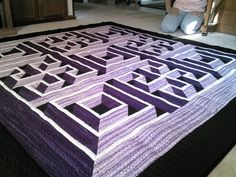 Labyrinth Walk Yes, this is a quilt. It has a 3-d effect when ... : labyrinth quilt pattern - Adamdwight.com