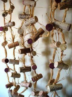 Items similar to Rustic cork garland wedding decoration repurposed winery backdrop eco-friendly upcycled on Etsy Cork Garland, Burlap Garland, Wine Cork Projects, Wine Cork Crafts, Wood Projects, Craft Projects, Holiday Door Decorations, Bar Decorations, Rustic Wedding Backdrops