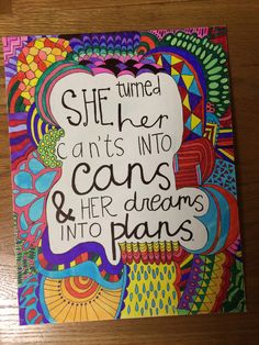 Canvas with Quote by HansCanvs on Etsy
