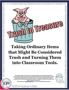 Trash to Treasure, a great science resource for Earth Day, features unique ideas, fun and engaging mini-lessons as well as simple and easy to construct crafts all made from recycled or common, everyday items. Discover how to take old discarded materials and make them into new, inexpensive products or tools for your classroom. Because these numerous activities vary in difficulty, they are appropriate for any primary classroom, and the visual and/or kinesthetic learners will love them. Earth Day Activities, Free Activities, Hands On Activities, Learning Activities, Classroom Tools, Primary Classroom, Multiplication Facts, Math Facts, Indoor Recess Games