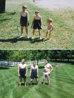 30 frères et sœurs qui recréent de manière hilarante leurs photos d'enfance.