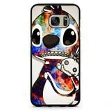Stitch Disney Galaxy Phonecase Cover Case For Samsung Galaxy S3 Samsung Galaxy S4 Samsung Galaxy S5 Samsung Galaxy S6 Samsung Galaxy S7 - Galaxy S7 Edge / Rubber / Black