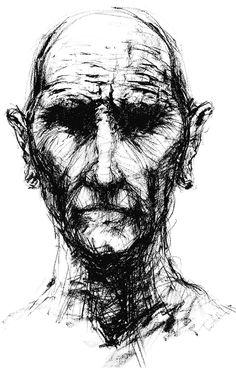 Trevor Hotten. Portrait Study 2009. charcoal
