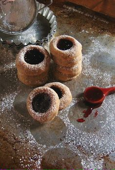 raspberry cornmeal thumbprint cookies {use whole-wheat pastry flour instead of all-purpose for a healthier version}