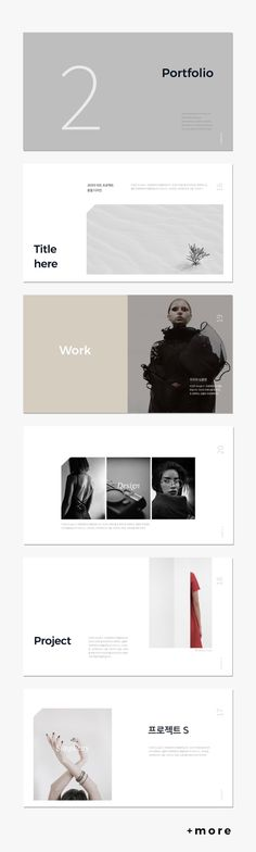 Simple P. Presentation Template #simple #presentation #ppt #template #portfolio #lookbook