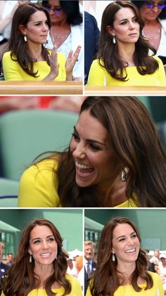 The many faces of The Duchess of Cambridge at the Wimbledon Lawn Tennis Championships on July 7, 2016.