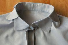 So einfach näht man den perfekten Hemd-/Blusenkragen