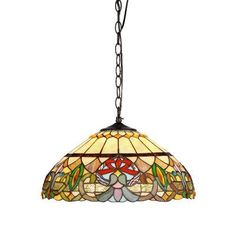 Chloe Lighting Victorian 2 Light Hester Ceiling Bowl Pendant