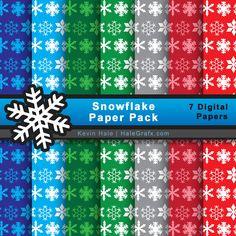 FREE Christmas Snowflake Digital Paper Pack