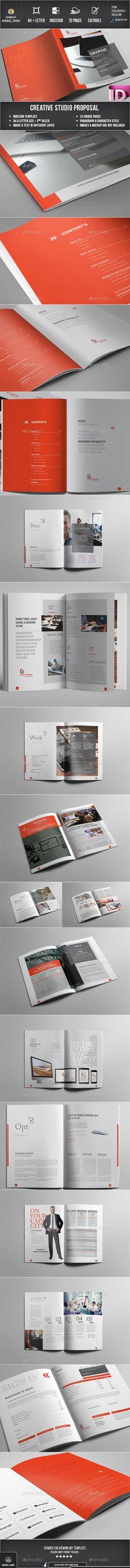 Proposal 32 Pages Template InDesign INDD #design Download: http://graphicriver.net/item/proposal/14446541?ref=ksioks