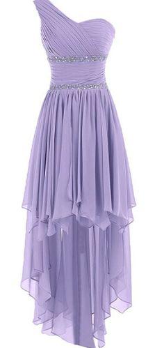 Lavender Chiffon Sweetheart Prom Dress