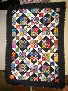 nine patch challenge uploaded by Pinner via Suzy Stanford - I can see doing and exchange for nine patch blocks