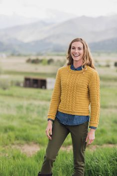 #Ravelry Yellow Gold Pullover pattern by Linda Marveng