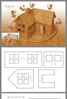 Gingerbread House Patterns, Gingerbread House Template, Gingerbread House Parties, Christmas Gingerbread House, Gingerbread Houses, Christmas Village Houses, Putz Houses, Christmas Baking, Christmas Diy
