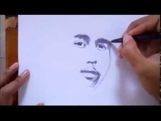 How to Draw Male Face with Ballpoint pen.
