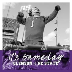 GET UP TIGERS! IT'S GAMEDAY. Beat NC State! #allin #ggww #clemsonfootball #gameday #clemsontigers Clemson Football, Clemson Tigers, Movies, Poster, Films, Cinema, Movie, Film, Movie Quotes
