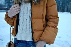 This Outerwear jacket gives an edge to the whole outfit because of its unusual colour
